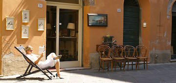 Relaxte Atmosphäre in Lucca - Blog in Sachen Italien